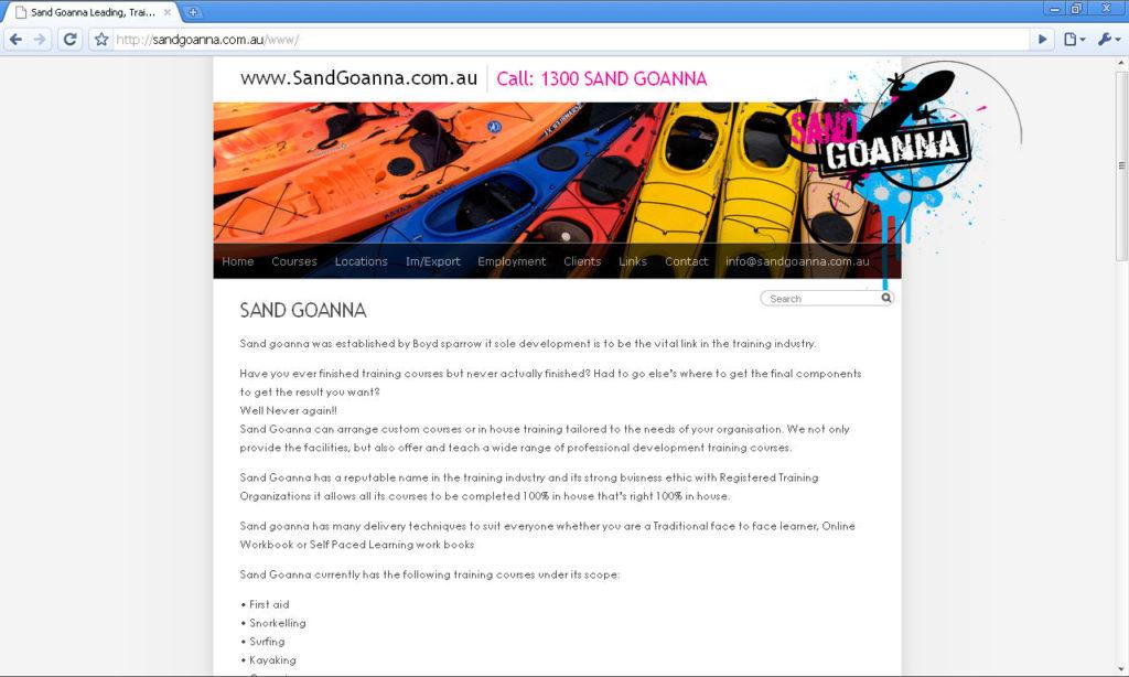 sandgoannacomau webpage 0