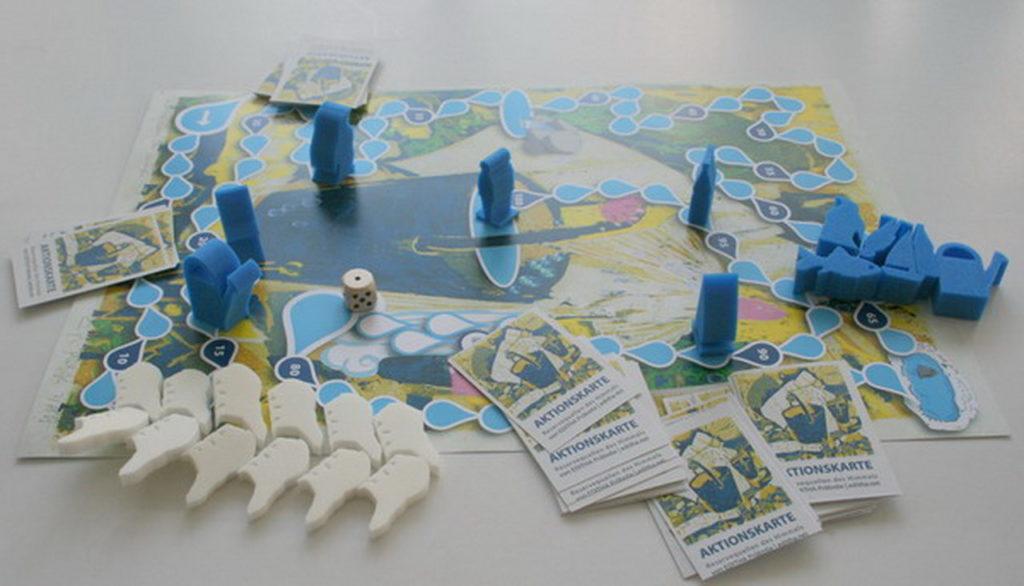 spielfeld spielsteine aktionskarten