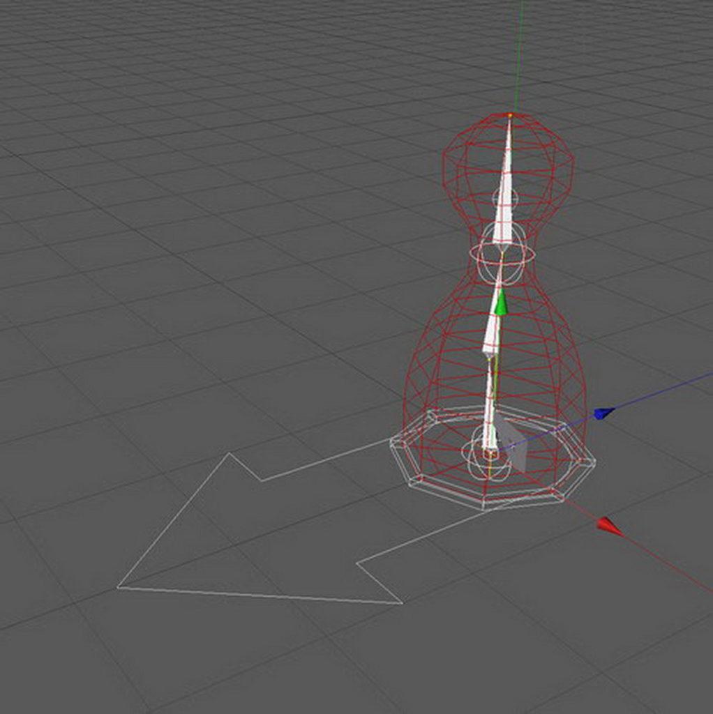 zks 3d model with bones