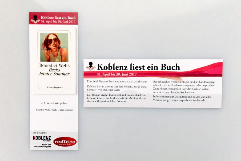 Koblenz liest ein Buch Lesezeichen scaled