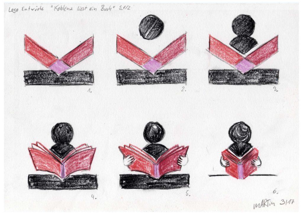 Logo Entwürfe 1 6 Koblenz liest ein Buch Seite 1