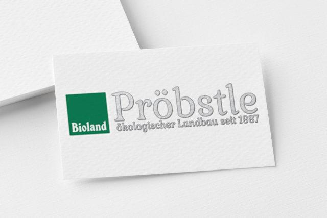 Mokeup Logo Pröbstle Ökologischer