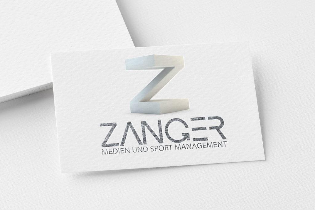 Mokeup Logo ZANGER Medien und Sport Management