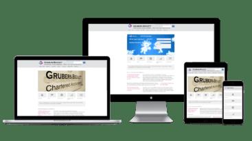 grubersbeckett.com .au webseite responsive