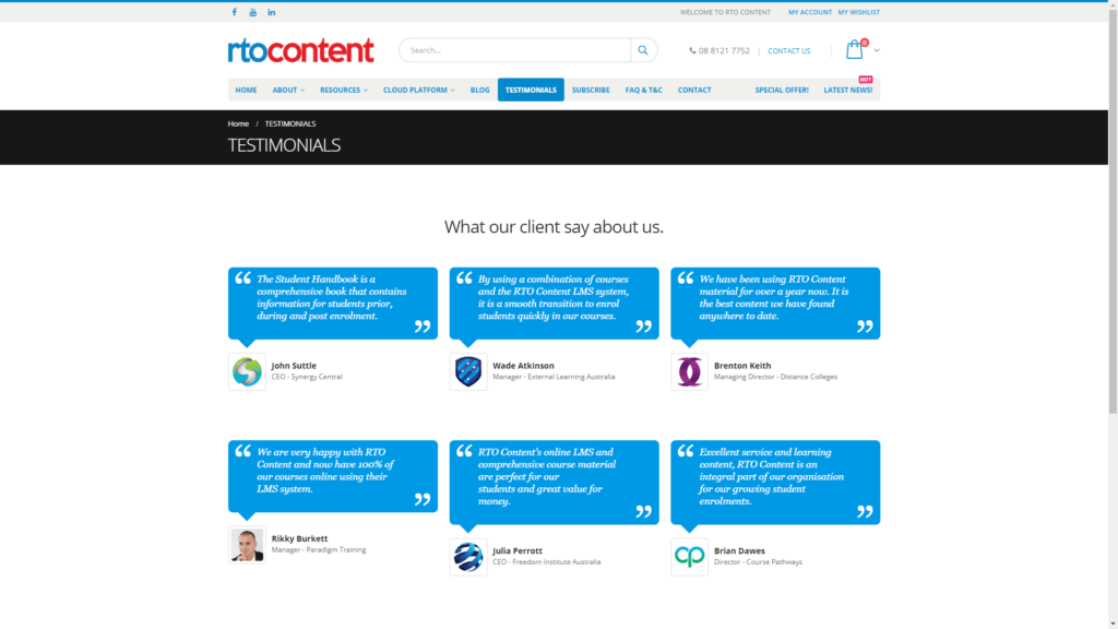 rtocontent.com testimonials FullHD